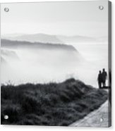 Morning Walk With Sea Mist Acrylic Print