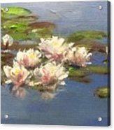 Morning Water Lilies Acrylic Print