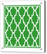 Moroccan Arch With Border In Dublin Green Acrylic Print