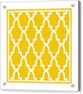 Moroccan Arch With Border In Mustard Acrylic Print