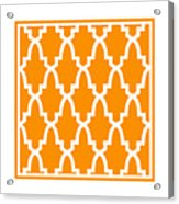 Moroccan Arch With Border In Tangerine Acrylic Print