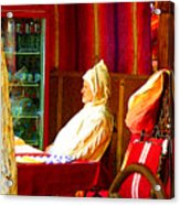 Moroccan In Cafe Acrylic Print