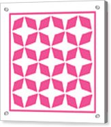 Moroccan Inlay With Border In French Pink Acrylic Print