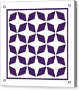 Moroccan Inlay With Border In Purple Acrylic Print