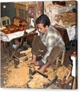 Moroccan Woodturner Acrylic Print