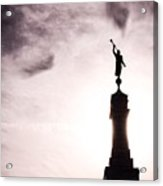 Moroni Silhouette Over Louisville Acrylic Print
