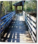 Morris Bridge Boardwalk Acrylic Print