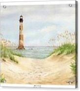 Morris Island Light House Acrylic Print by Lane Owen