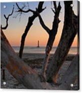 Morris Island Lighthouse Sunrise 2 Acrylic Print