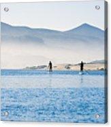 Morro Bay Paddle Boarders Acrylic Print
