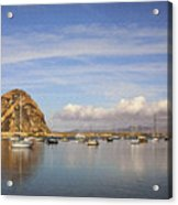 Morro Harbor And Rain Clouds Acrylic Print