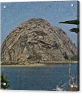 Morro Rock California Painting Acrylic Print