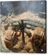 Mortar Crew In Action Acrylic Print