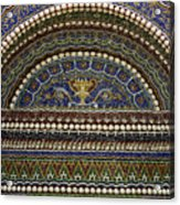 Mosaic And Shell Fountain Getty Villa Malibu California Acrylic Print