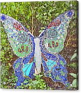 Mosaic Butterfly Acrylic Print