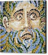 Mosaic Face Fountain Detail Acrylic Print