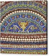 Mosaic Fountain Detail 4 Acrylic Print