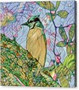 Mosaic Of Blue Jay Acrylic Print