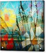 Mosaic Sea Oats Acrylic Print