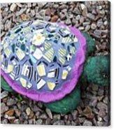 Mosaic Turtle Acrylic Print