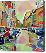 Moscow Color Rain Acrylic Print