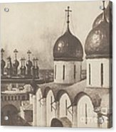 Moscow, Domes Of Churches In The Kremlin Acrylic Print