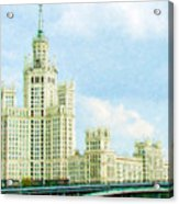 Moscow High-rise Building Acrylic Print