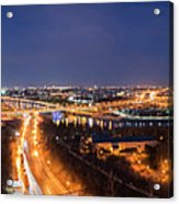 Moscow Night Panorama Acrylic Print