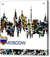 Moscow Skylines Acrylic Print