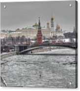 Moscow Winter Look Acrylic Print