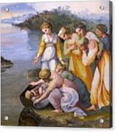 Moses Saved From The Waters Raffaello Sanzio Da Urbino Raphael Raffaello Santi Acrylic Print