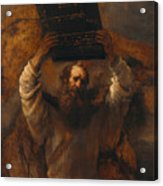 Moses With The Ten Commandments Acrylic Print