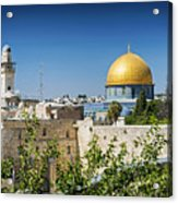 Mosques In Old Town Of Jerusalem Israel Acrylic Print
