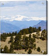 Mosquito Range Mountains From Bald Mountain Colorado Acrylic Print