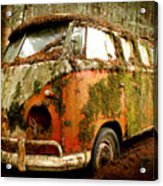 Moss Covered 23 Window Bus Acrylic Print by Michael David Sorensen