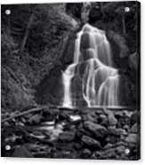 Moss Glen Falls - Monochrome Acrylic Print