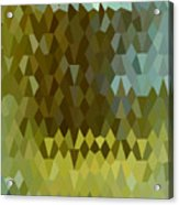 Moss Green Abstract Low Polygon Background Acrylic Print