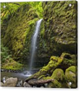 Mossy Grotto Falls In Summer Acrylic Print