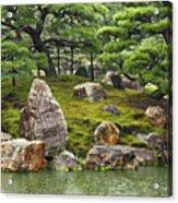 Mossy Japanese Garden Acrylic Print