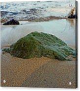 Mossy Rock Acrylic Print