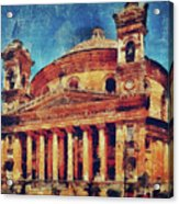 Mosta Church Acrylic Print