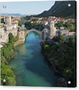 Mostar, Bosnia And Herzegovina.  Stari Most.  The Old Bridge. Acrylic Print