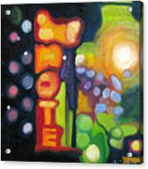 Motel Lights Acrylic Print