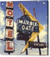 Motel Marble Gate Acrylic Print