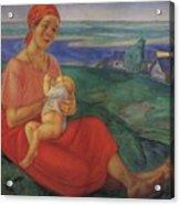 Mother 1 1913 Kuzma Sergeevich Petrov-vodkin Acrylic Print