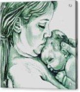 Mother And Child II Acrylic Print