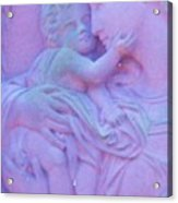 Mother And Child In Lavender Acrylic Print