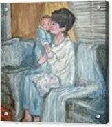Mother And Child R Acrylic Print