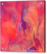 Mother And Daughter Abstract Acrylic Print