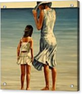 Mother and daughter  III Acrylic Print